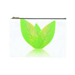 Leaves Green Nature Reflection Cosmetic Bag (Large)