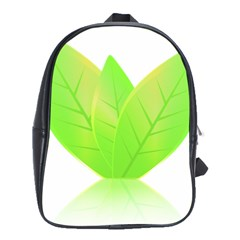 Leaves Green Nature Reflection School Bags(Large)