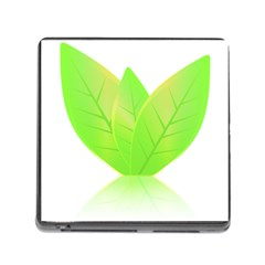 Leaves Green Nature Reflection Memory Card Reader (square)