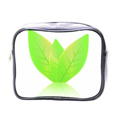 Leaves Green Nature Reflection Mini Toiletries Bags