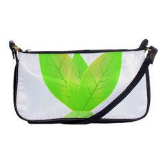 Leaves Green Nature Reflection Shoulder Clutch Bags