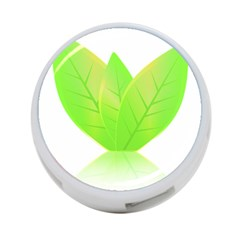 Leaves Green Nature Reflection 4 Port Usb Hub (one Side)