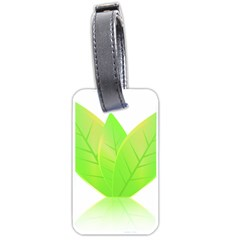 Leaves Green Nature Reflection Luggage Tags (two Sides)