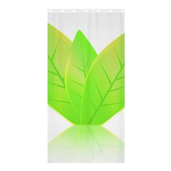 Leaves Green Nature Reflection Shower Curtain 36  x 72  (Stall)