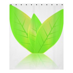 Leaves Green Nature Reflection Shower Curtain 60  x 72  (Medium)