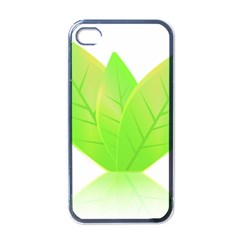 Leaves Green Nature Reflection Apple iPhone 4 Case (Black)