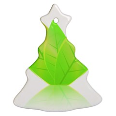 Leaves Green Nature Reflection Ornament (Christmas Tree)