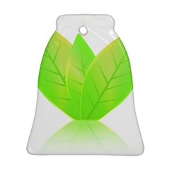 Leaves Green Nature Reflection Ornament (bell)