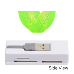 Leaves Green Nature Reflection Memory Card Reader (stick)
