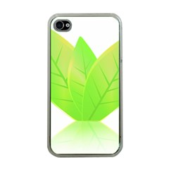 Leaves Green Nature Reflection Apple iPhone 4 Case (Clear)