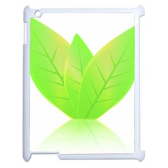 Leaves Green Nature Reflection Apple Ipad 2 Case (white)