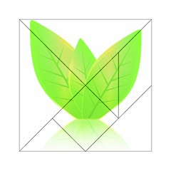 Leaves Green Nature Reflection Acrylic Tangram Puzzle (6  X 6 )