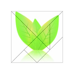 Leaves Green Nature Reflection Acrylic Tangram Puzzle (4  X 4 )