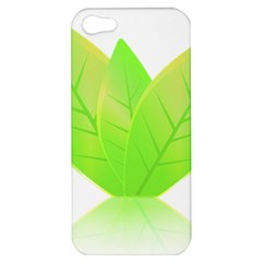 Leaves Green Nature Reflection Apple Iphone 5 Hardshell Case