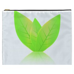 Leaves Green Nature Reflection Cosmetic Bag (xxxl)