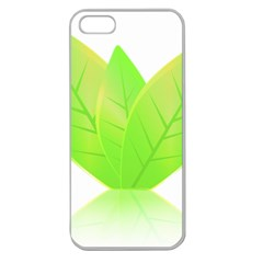 Leaves Green Nature Reflection Apple Seamless Iphone 5 Case (clear)