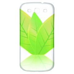 Leaves Green Nature Reflection Samsung Galaxy S3 S Iii Classic Hardshell Back Case