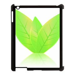 Leaves Green Nature Reflection Apple Ipad 3/4 Case (black)