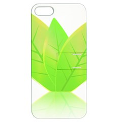 Leaves Green Nature Reflection Apple Iphone 5 Hardshell Case With Stand