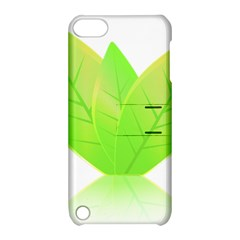 Leaves Green Nature Reflection Apple iPod Touch 5 Hardshell Case with Stand