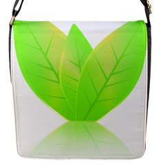 Leaves Green Nature Reflection Flap Messenger Bag (S)