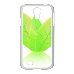 Leaves Green Nature Reflection Samsung Galaxy S4 I9500/ I9505 Case (white)