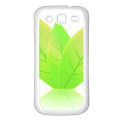 Leaves Green Nature Reflection Samsung Galaxy S3 Back Case (white)