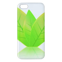 Leaves Green Nature Reflection Iphone 5s/ Se Premium Hardshell Case