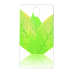 Leaves Green Nature Reflection Samsung Galaxy Note 3 N9005 Hardshell Back Case