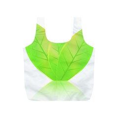 Leaves Green Nature Reflection Full Print Recycle Bags (s)