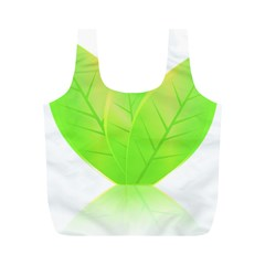 Leaves Green Nature Reflection Full Print Recycle Bags (m)