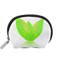 Leaves Green Nature Reflection Accessory Pouches (small)