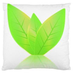 Leaves Green Nature Reflection Large Flano Cushion Case (two Sides)