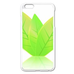 Leaves Green Nature Reflection Apple Iphone 6 Plus/6s Plus Enamel White Case