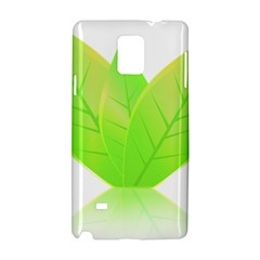 Leaves Green Nature Reflection Samsung Galaxy Note 4 Hardshell Case