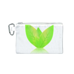 Leaves Green Nature Reflection Canvas Cosmetic Bag (S)
