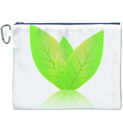 Leaves Green Nature Reflection Canvas Cosmetic Bag (xxxl)