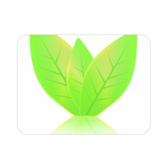 Leaves Green Nature Reflection Double Sided Flano Blanket (mini)