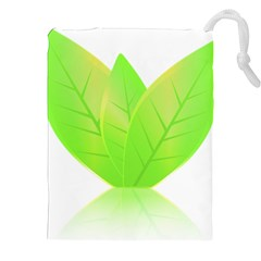 Leaves Green Nature Reflection Drawstring Pouches (XXL)