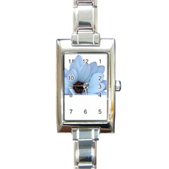 Daisy Flower Floral Plant Summer Rectangle Italian Charm Watch
