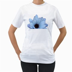 Daisy Flower Floral Plant Summer Women s T-Shirt (White) (Two Sided)