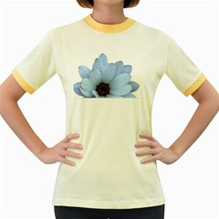 Daisy Flower Floral Plant Summer Women s Fitted Ringer T-Shirts