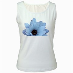 Daisy Flower Floral Plant Summer Women s White Tank Top