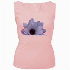 Daisy Flower Floral Plant Summer Women s Pink Tank Top