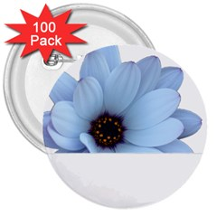 Daisy Flower Floral Plant Summer 3  Buttons (100 Pack)