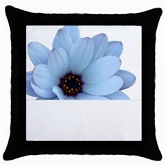Daisy Flower Floral Plant Summer Throw Pillow Case (Black)