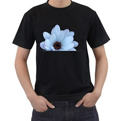 Daisy Flower Floral Plant Summer Men s T Shirt (black) (two Sided)