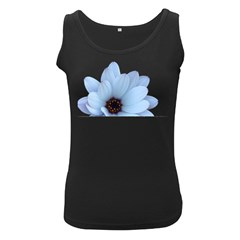 Daisy Flower Floral Plant Summer Women s Black Tank Top
