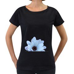 Daisy Flower Floral Plant Summer Women s Loose-Fit T-Shirt (Black)