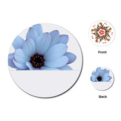 Daisy Flower Floral Plant Summer Playing Cards (round)